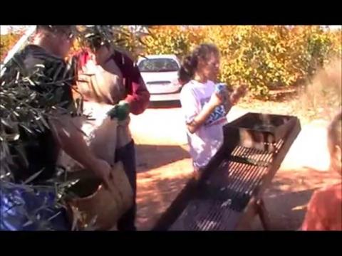 Pequeña familia agricultora