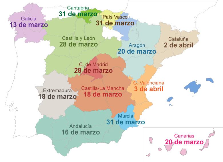 Mapa finales autonomicas - Clipmetrajes 2020
